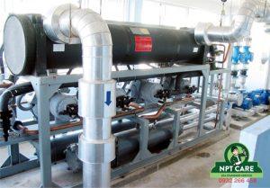 Quá trình lắp đặt thi công hệ thống Chiller làm mát nước