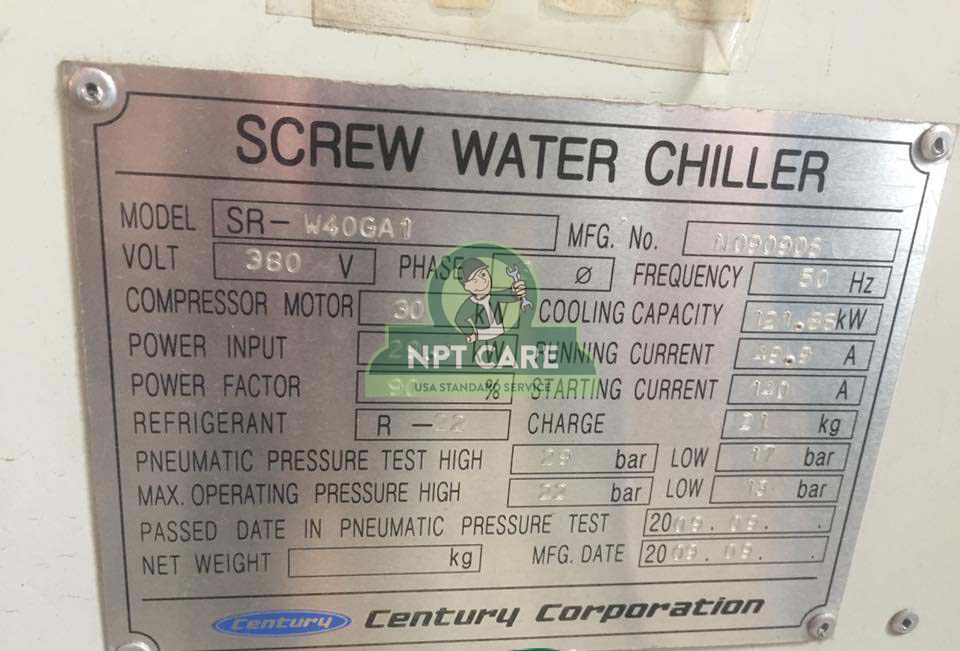 Dự án bảo trì Water Chiller tại nhà máy sản xuất dây điện Shinwa vani Bắc Ninh 2
