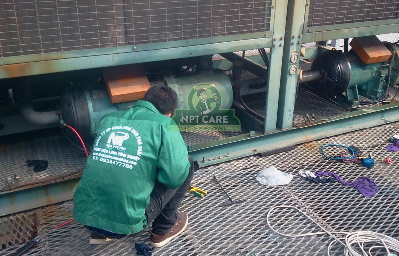 Sửa chữa hệ thống điều hòa công nghiệp Công ty TNHH INTOPS VIETNAM 4
