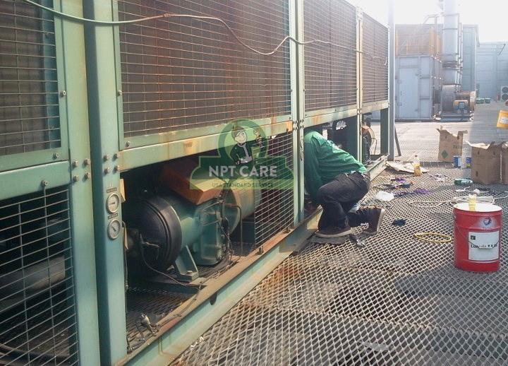 Sửa chữa hệ thống điều hòa công nghiệp Công ty TNHH INTOPS VIETNAM 5